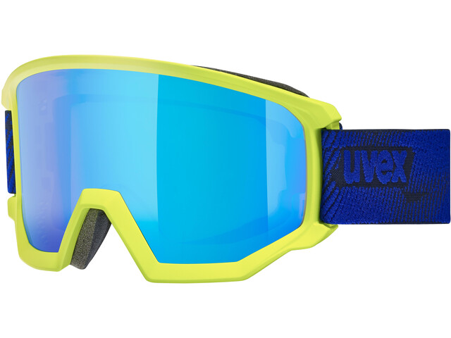 UVEX Athletic CV Goggles lime mat/colorvision blue fire